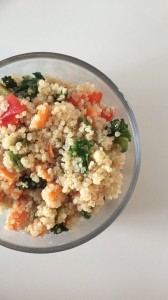 Fresh, healthy quinoa salad with citrus dressing.
